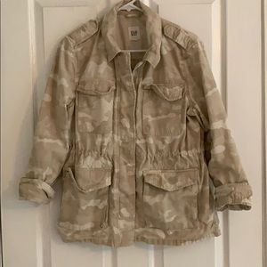 Gap Tan Camo Utility Jacket